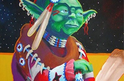 'If Yoda was an Indian' © Bunky Echo-Hawk.